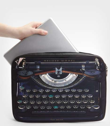 Typewriter-Printed Tech Covers