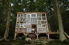 DIY Glass Getaway Homes - This Couple Spent Only $500 On a Do-It-Yourself Home Made of Glass