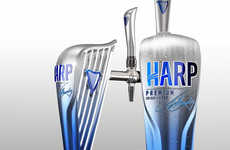 Musical Booze Marketing - Harp Lager Packaging Embodies the Form of an Elegant String Instrument