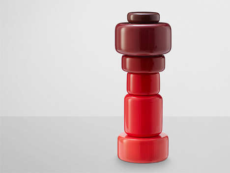 Vibrant Gradient Shakers - The Plus Salt & Pepper Mills Bring Visual Spice to Your Supper Table
