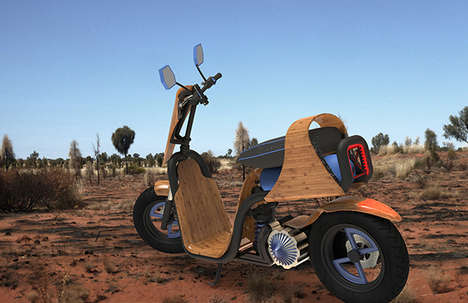 Air-Powered Scooters - The EcoMoto Motorbike is Propelled by the Release of Pressurized Gases