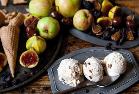 Unconventional Meat Desserts - Thanksgiving Dinner Ice Cream Makes Meal Flavors into Yummy Scoops