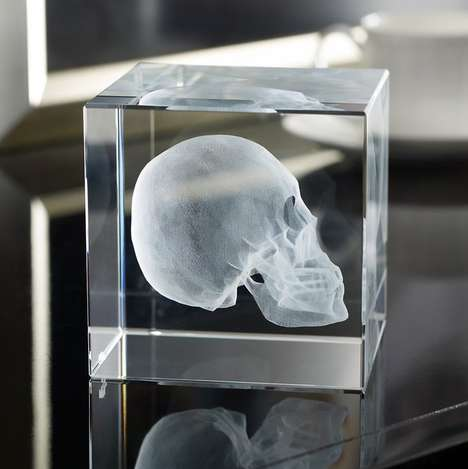 Luxe Halloween Decor - This Encased Skull Ornament is Designed by Iconic Brand Ralph Lauren