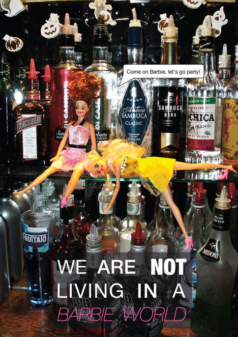 Alcohol Awareness Doll Ads - These Drunk Barbies Warn About the Effects of Alcohol
