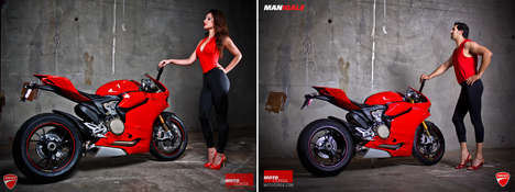 Mocking Motocycle Ads - Portland Ducati Dealership Turns Male Employees into Seductive Models