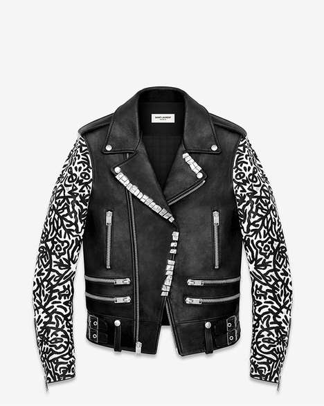 Graffitied Couture Collaborations - The Saint Laurent x Sumi Ink Club Motorcycle Jacket is Youthful