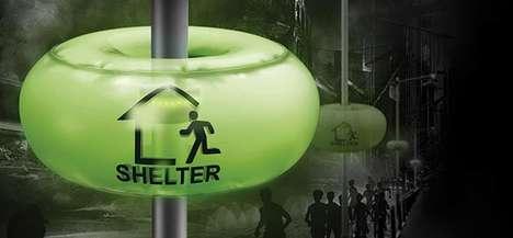 Shelter-Directing Streetlights