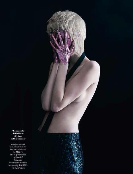 Dark Glitter-Dipped Editorials