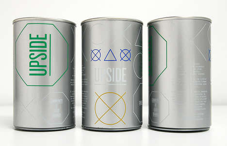 Symbolic Store Packaging - Upside Branding Uses Geometric Elements to Highlight its Basic Strengths