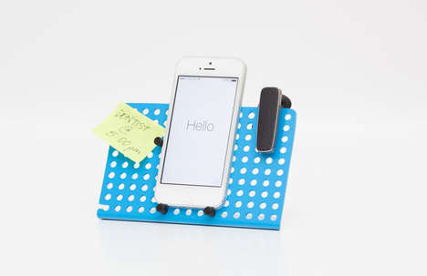 Pegboard Phone Stands