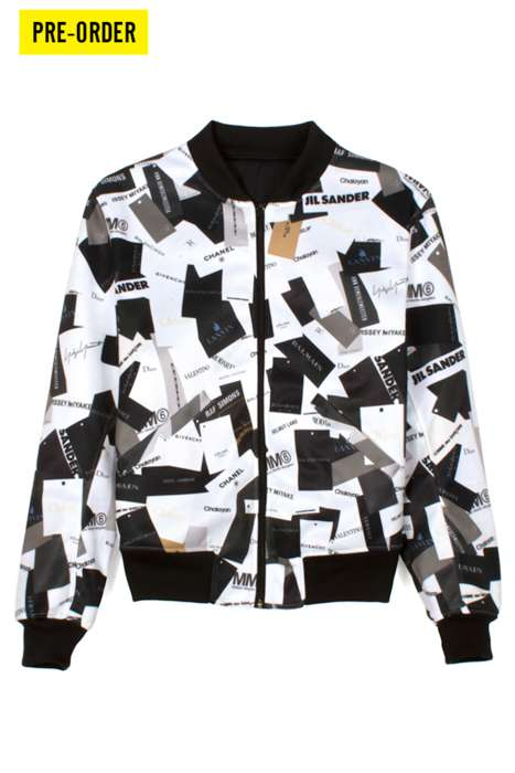Label-Laden Jackets - These Designer Jackets from Wil Fry Let You Wear All Your Favorite Brands.
