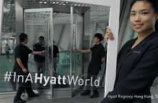 Hospitable Door-Opening Stunts - Hyatt Promotes Kindness by Having Employees Open Doors for People
