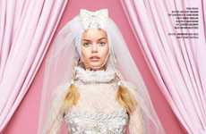 Barbie-Like Bridal Editorials - The V Magazine 'Cruise to the Alter' Photoshoot is Very Feminine