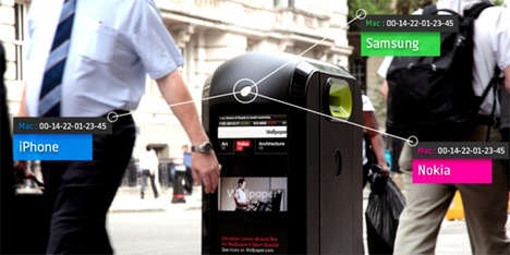 Consumer-Tracking Trash Cans