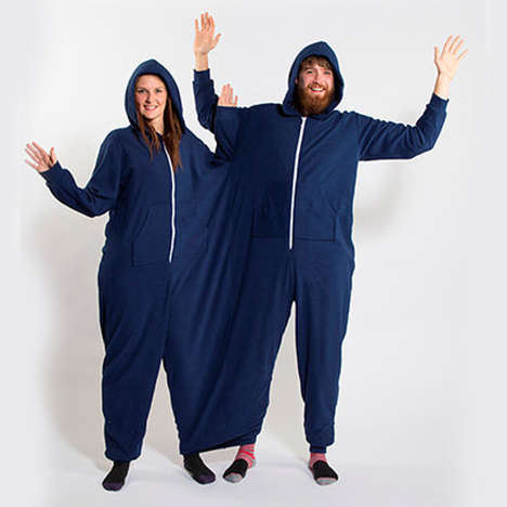 Two Person Onesies - This Onesie Romper Literally Conjoins Couples at the Hip