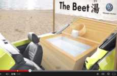 Bathtub-Inspired Autos - The Volkswagen Beetle has Been Customized with a Rear Seat Bathtub