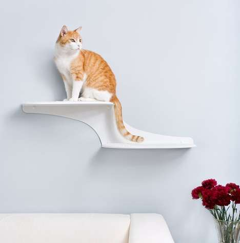 Floating Feline Furniture - The Clouds Cat Shelf is Practical and Stylish for Pet Owners