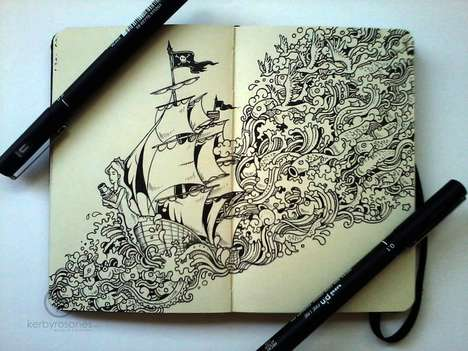 Kerby Rosanes Creates Little Worlds in His Illustrations