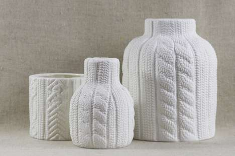 Crocheted Ceramic Decor