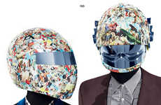 Eccentric Electro Editorials - The Daft Punk Luca Finotti Editorial Celebrates the Helmeted Duo