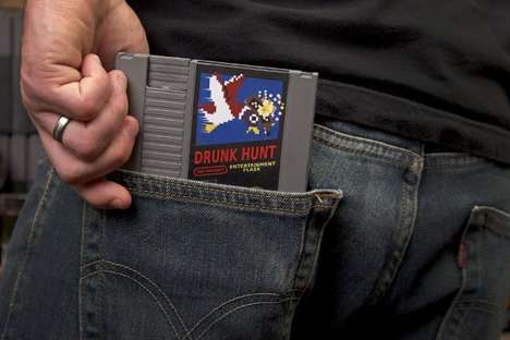 8-Bit Booze Containers - The NES Cartridge Flasks Let You Get Your Game and Drink On