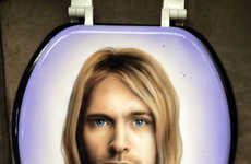 Celeb Toilet Seat Portraits - Robbie Kass's Toilet Seat Art Features Fixtures from Pop Culture