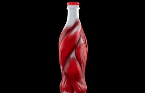 Muscular Beverage Marketing - The Ecorche Energy Drink Has a Strong Visual and Metaphorical Concept