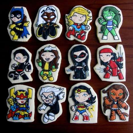 Comic Superhero Cartoon Cookies