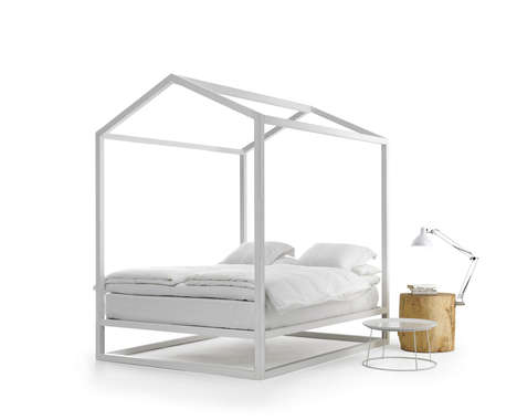 Rooftop-Resembling Bed Frames