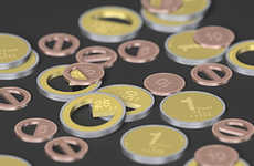 Contemporary Fraction Currency (UPDATE) - Infographic Coins Display Their Values Symbolically