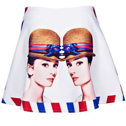 Hollywood Star Graphic Skirts