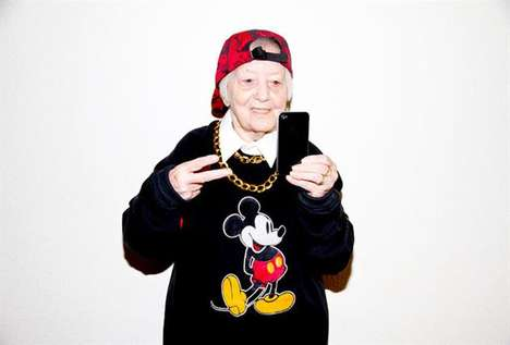 Gangster Grandparent Photography - Dai Lyn Powers Photographs Senior Citizens in Rebel Teen Outfits