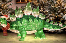 Prehistoric Christmas Decor - This Stegosaurus Christmas Ornament is Perfect for Quirky Couples