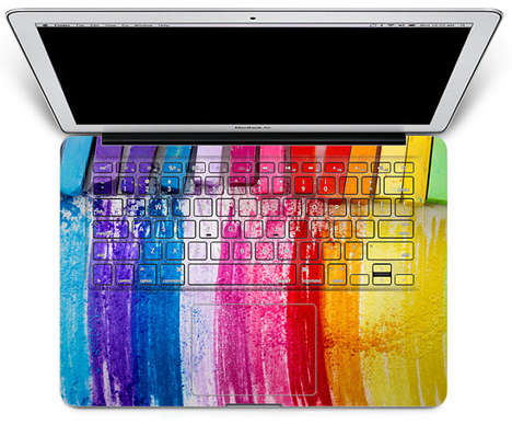 Vivid Rainbow Keyboard Decals