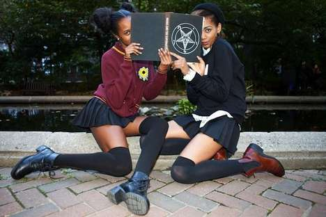 Witchy Collegiate Catalogs - The Mishka NYC Holiday 2013 Lookbook is Too Cool for School