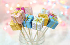 Pretty Present Stirrers - Add a Gift Wrap Look to Your Cocktail Stirrers with This Festive DIY Guide