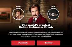 Anchorman Clicking Contests - Hands on Ron Burgundy Lets the Touchiest Fan Win a New Dodge Durango