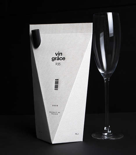 Elegant Boxed Wine Branding - The Vin Grace Packaging Design Gives Displays a Sophisticated Design