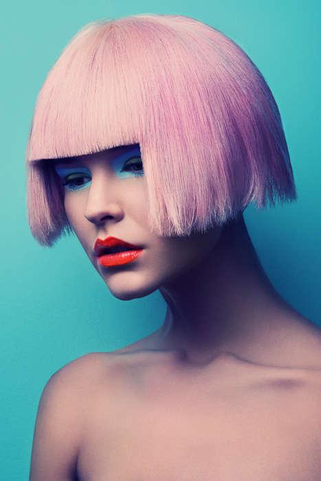 Electric-Hued Wig Portraits