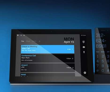Sleek Touchscreen Desk Phones