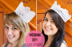 Lovely DIY Lace Crowns