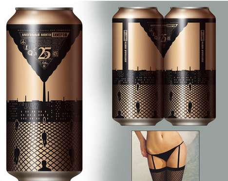 Suggestive Soda Branding - The Pantyhose Soda Can Design is an Example of Suggestive Marketing