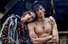 Bohemian Vacation Editorials - Irina Shayk Stars in this Woodsy Spread for Vogue Spain