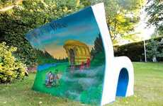 Literature-Inspired Public Seating - The London Book Benches Focus on Classic Novels