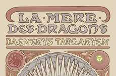 Fantasty Femmes Concept Art - Elin Jonsson Has Created These Art Nouveau Game of Thrones Posters