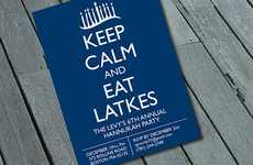 Hilarious Hanukkah Invitations - This Holiday Invitation Advises You to Eat Latkes