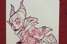 X-Rayed Disney Icons - This X-ray Coloring Book Give Us a Better Look into Disney Characters