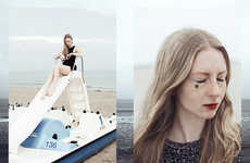 Freckled Girlfriend Seaside Shoots - Paul Aidan Perry Captured 'The Seaside' Starring Model Anna
