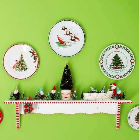 Festive Holiday Plate Decor