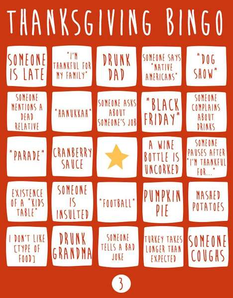 Holiday Gathering Bingo Games